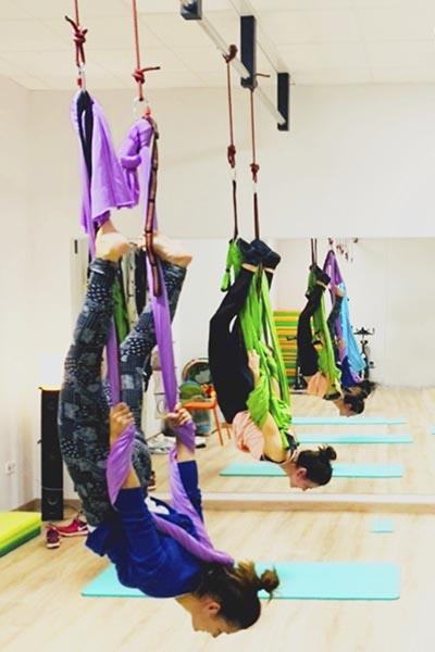 el yoga aéreo de Graus te va a sorprender